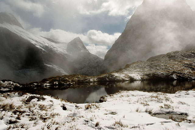 Mist at Mackinnon Pass