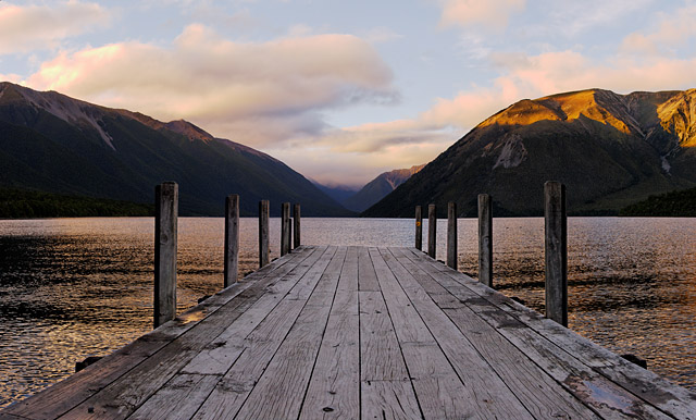 Sunrise at Lake Rotoiti