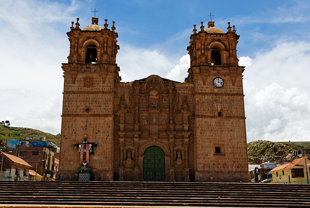 Puno main square church