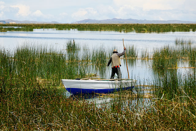 Fisherman at Lake Titicaca