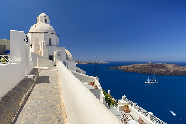 Church in Fira, Santorini, Greece