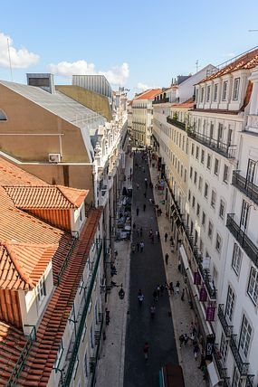 view from Elevador de Santa Justa, Lisbon, Portugal