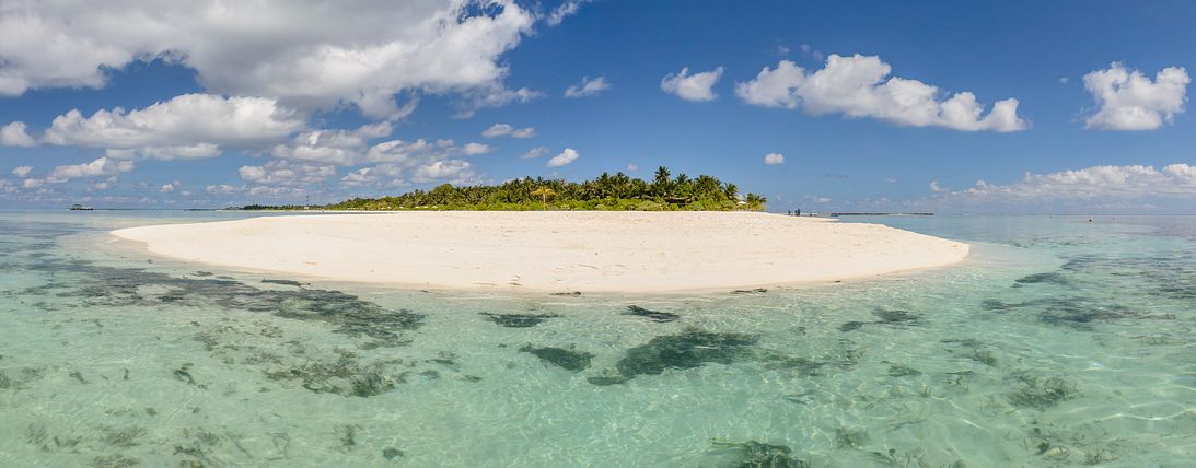 Panorama of Holiday Island, Maldives